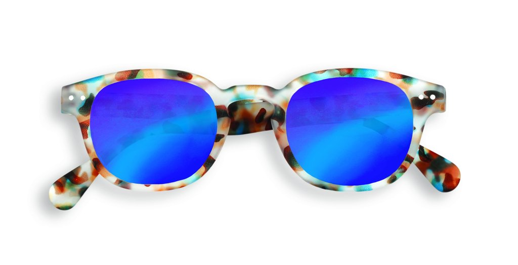 35fc91fa79b IZIPIZI   Sun Junior Mirror Collection C Sun Glasses - Mirror Blue  Tortoise  Amazon.com.au  Fashion