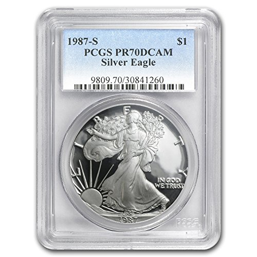 1987 S Proof Silver American Eagle PR-70 PCGS (Registry Set) PR-70