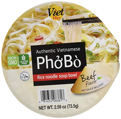 Authentic Vietnamese Pho Bo Rice Noodle Soup Bowl - Noodle Bowl Rice