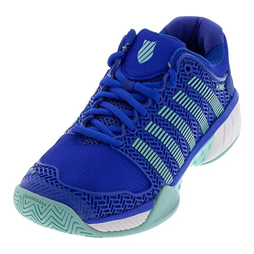 K-Swiss Women's Hypercourt Express Tennis Shoe (Dazzling Blue/Aruba Blue, 6.0 B(M) US)