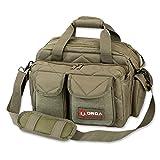 Orca Tactical Gun Shooting Range Bag Handgun Pistol and Ammo Duffle Carrier (OD Green)