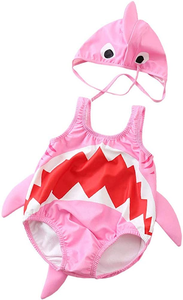 Baby/Toddlers/Boys Girls One Piece Shark Swimsuit Bathing Suit UPF 50+ Outfit Swimwear Set