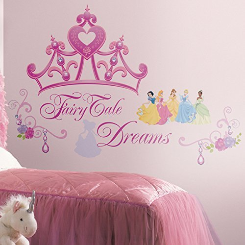 RoomMates Disney Princess and Princess Crown Peel and Stick Giant Wall Decals