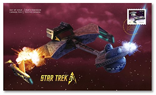 ersary- Klingon Battle Cruiser Official First Day Cover Collectible Postage Stamps Canada ()