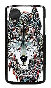 Wolf Animal Hard Case for Google Nexus 5 LG ( Flower Flowering Rose )