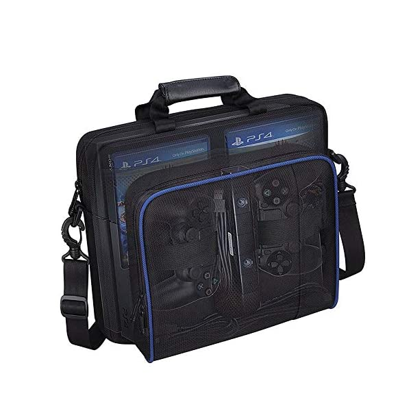 Carrying Case for PS4, New Travel Storage Carry Case, PlayStation Protective Shoulder Bag Handbag for PS4 PS4 Pro/Slim System Console and Accessories 2