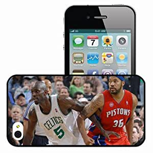 Personalized iPhone 4 4S Cell phone Case/Cover Skin Sport Basketball Game Opposition Nba Black