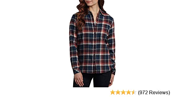 016f63b745b30 Dickies Women s Long-Sleeve Plaid Flannel Shirt at Amazon Women s Clothing  store