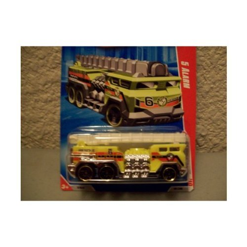 Hot Wheels 2010 Race World Yellow 5 Alarm Fire Truck -