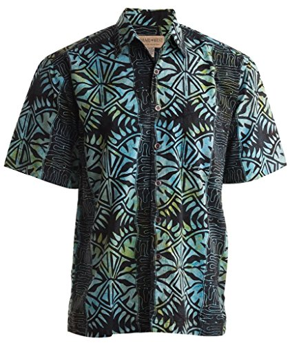 Geometric Forest (XL, Marine) (Casual Men Xl)