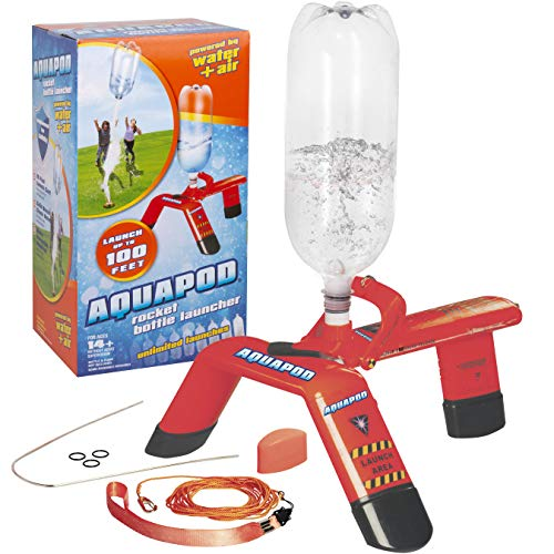 Aquapod Water Bottle Rocket Launcher - Launch 2 Liter Soda Bottles Up to 100 ft in The Air - The Cool Backyard Toy Gift That Makes Outdoors Fun for Kids, Teenagers, and Adults! (The Best Bottle Rocket Designs)