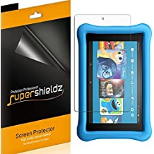 """[3-Pack] Supershieldz for All-New Fire HD 8 Kids Edition Tablet 8"""" Screen Protector, High Definition Clear Shield - Lifetime Replacements Warranty"""