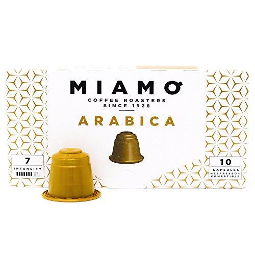 NEW - Nespresso Compatible Capsules - MIAMO COFFEE - ARABICA - Pack of 50 - Fit to all Nespresso Original Line Machines - Intensity 7/10 by MIAMO COFFEE