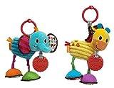 Infantino Pull & Play Jittery Pal Asstd Elephant/Giraffe