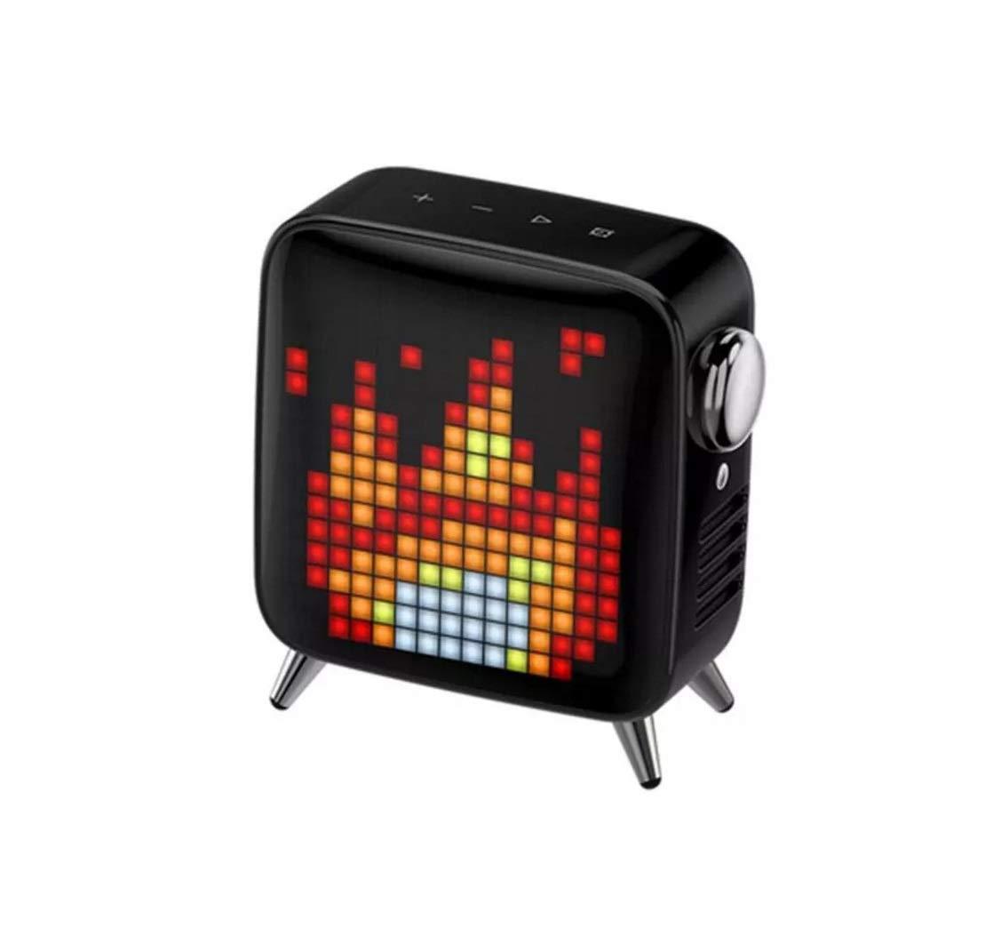 Lklmy クリエイティブピクセルスマートスピーカー3Dサラウンドハイパワースピーカーサブウーファーブルートゥーススピーカー (Color : ブラック) B07QBPM8GX