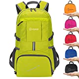 ZOMAKE Ultra Lightweight Hiking Backpack, 35L Packable Water Resistant Travel Backpack Foldable Daypack Outdoor Camping(Yellow)