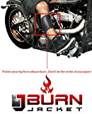 Motorcycle exhaust pipe burn protective sleeve- leg guard fits both men and women calf jacket to protect your legs from extreme heat protection for any motorcycle muffler exhaust or pipes