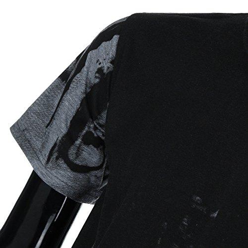 Corta 3d Deporte Impresa Camiseta Redondo Polo Delgado Gris Hombre Capa Ropa Camisa Para Cuello De Manga Cebbay SW1qYq