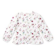 Hope & Henry Girls' Woven Peplum Floral Blouse Size 3-6 Months