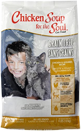 Chicken Soup For The Soul 418227 Grain-Free Chicken And Legumes Cat Food, One Size/4 Lb