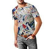 Famous Russian painter Wassily Kandinsky adorns this design with one of his abstract fine art master pieces - take a slice of museum and art history with you wherever you go! Great quality cotton-blend mens T-shirt in a classic cut. Made from 90% cot...