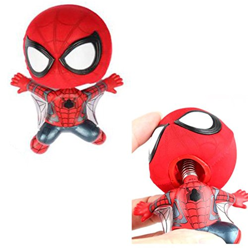 Magnet Stick-on Wall Door Car Bobble Head Spiderman Action Figure for Car Home Decoration