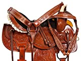 Product review for PREMIUM 14 15 16 BEAUTIFUL TOOLED WESTERN LEATHER BARREL RACING PLEASURE TRAIL HORSE SADDLE TACK SET