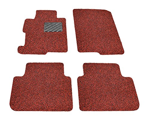 Autotech Zone Custom Fit Heavy Duty Custom Fit Car Floor Mat for 2012-2018 Volkswagen Beetle Coupe, All Weather Protector 4 Piece Set (Red and Black)