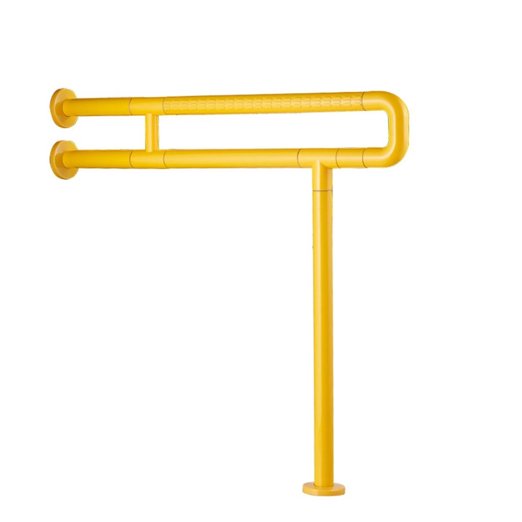 DHMHJH Safety handrail Bathroom Stainless Steel Anti-slip Handrail Elderly, Handicapped Nylon Handle For Disabled Persons Bathtub Toilet Safety Handrail (Color : Yellow, Size : 6070cm)