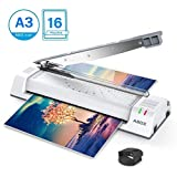"""ABOX 13"""" Thermal Laminator for A3, A4, A6, Laminating Machine with Jam Release Switch, Fast Warm up, No Bubble, Quick Laminating Speed, for Home, Office, School, Includes 16 Free Laminating Pouches"""