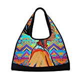 Gym Bag Sports Holdall Africa Woman Art Canvas Shoulder Bag Overnight Travel Bag for Men and Women