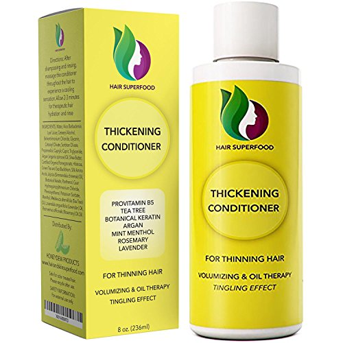 (Anti-Dandruff Treatment Hair Conditioner for Hair Loss Dry Hair + Flaking Scalp - Antifungal Tea Tree Scalp Treatment for Itchy + Thinning Hair - Improve Scalp Health + Promote Growth - Sulfate Free)