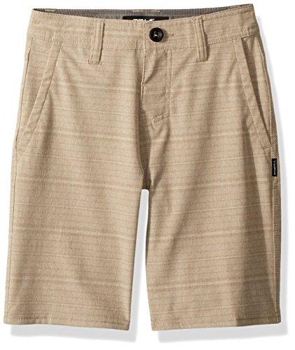 O'Neill Big Boys' Locked Stripe Quick Dry Hybrid Boardshort, Khaki, 25