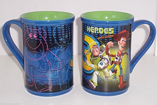 Authentic Disney Exclusive Toy Story 3 Heroes Buzz Lightyear & Woody with Lotso Ceramic Coffee Mug