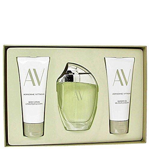 (Adrienne Vittadini AV by - Gift Set -- 3 oz Eau De Parfum Spray 3.3 Body Lotion 3.3 oz Shower Gel by Adrienne Vittadini)