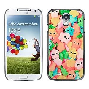 MOBMART Carcasa Funda Case Cover Armor Shell PARA Samsung Galaxy S4 - Bright Colored Smiley Candies