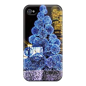 Abrahamcc HzI140uqYI Case For Iphone 4/4s With Nice Christmas Tree Appearance