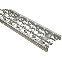 """Skate Wheel Conveyor Aluminum Frame 12"""" Wide 5' long. 10 wheels per foot with axles on 3"""" centers. Compatible with Hytrol 3AW-12-10. Material handling roller conveyor."""