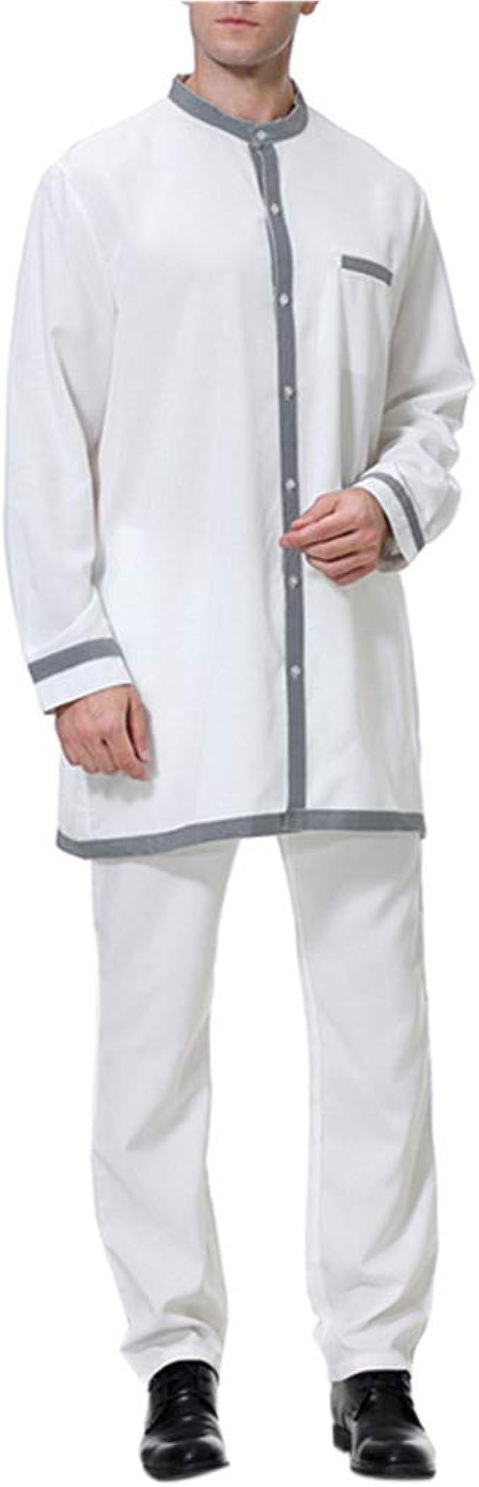 Hombre de Caftán Ropa Musulmán - Mango Maxi Vestidos Abaya Camisa Kaftan Jalabiya Traje de Coctel: Amazon.es: Ropa y accesorios