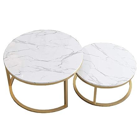 Tavolini Da Salotto Divani E Divani.Tavolino Da 2 Pezzi Tavolino Da Salotto In Stile Mdf In Marmo
