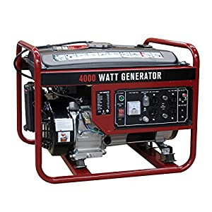 Goplus 4000 Watt Gasoline Portable Generator Gas Powered 4 Stroke 208cc Single Cylinder W/ Air Cooling System EPA Approved