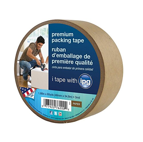 Intertape 9341 Kraft Paper Flatback Carton Sealing Tape, 1.88-Inch x 60-Yard (pack of 3) ()