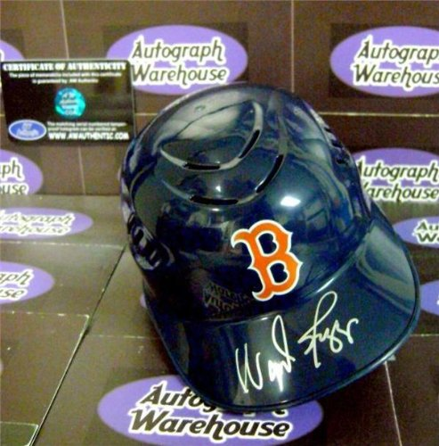 Wade Boggs autographed mini batting helmet (Boston Red Sox) - Autographed MLB Mini Helmets (Helmets Mlb Mini Autographed)