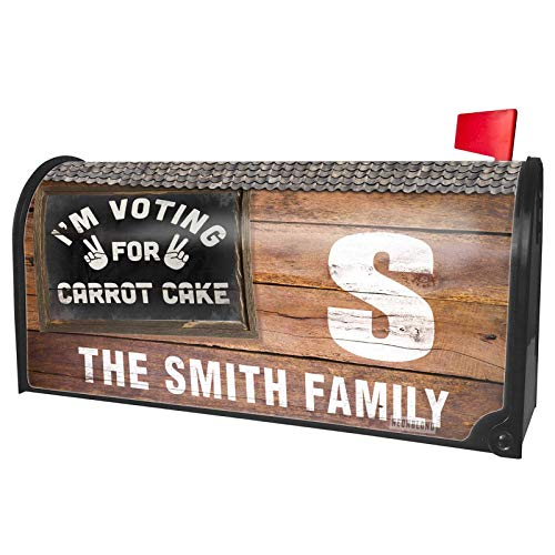 NEONBLOND Custom Mailbox Cover I'm Voting for Carrot Cake Funny Saying ()