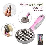 Hesiry Cat Brush Pet Soft Brush for Shedding Removes Loose Long or Short Hairs,Slicker Brush for Dog Massage-Self Cleaning