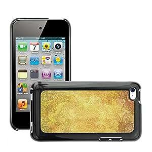 Etui Housse Coque de Protection Cover Rigide pour // M00150720 Fondo floral de oro colorido // Apple ipod Touch 4 4G 4th