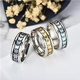 Uscharm Women Rings Bohemian Vintage Silver Rings Boho Butterfly Rings Finger Rings Golden (BK11)