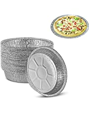 15-Inch Pans Disposable Aluminum Pans for Barbecue, Camping, Holiday Parties,(10 Pack )