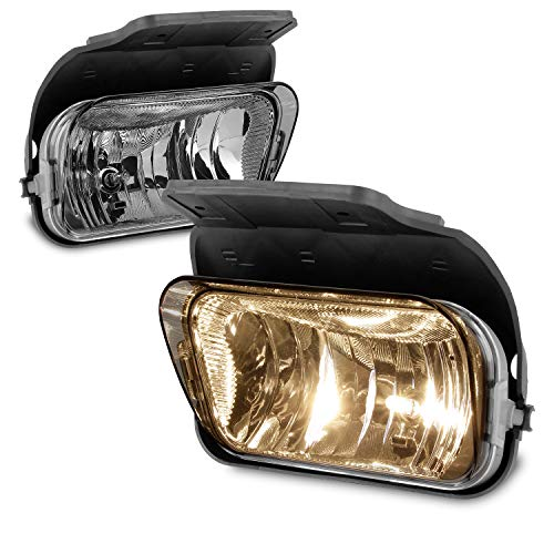 For 2003-2006 Chevy Silverado Avalanche Bumper Driving Fog Lights Lamps Left+Right Replacement Pair ()