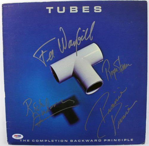 Tubes (4) Steen Anderson Prince & Waybill Signed Album Cover W/ Vinyl PSA S80843 - Anderson Vinyl Tube
